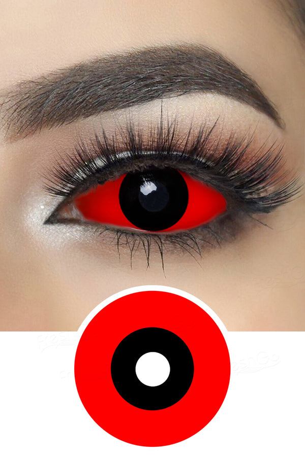Red and Black Sclera Lenses