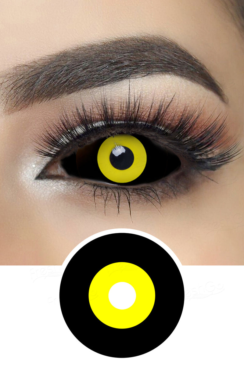 Sith Ichigo Black and Yellow Sclera Lenses