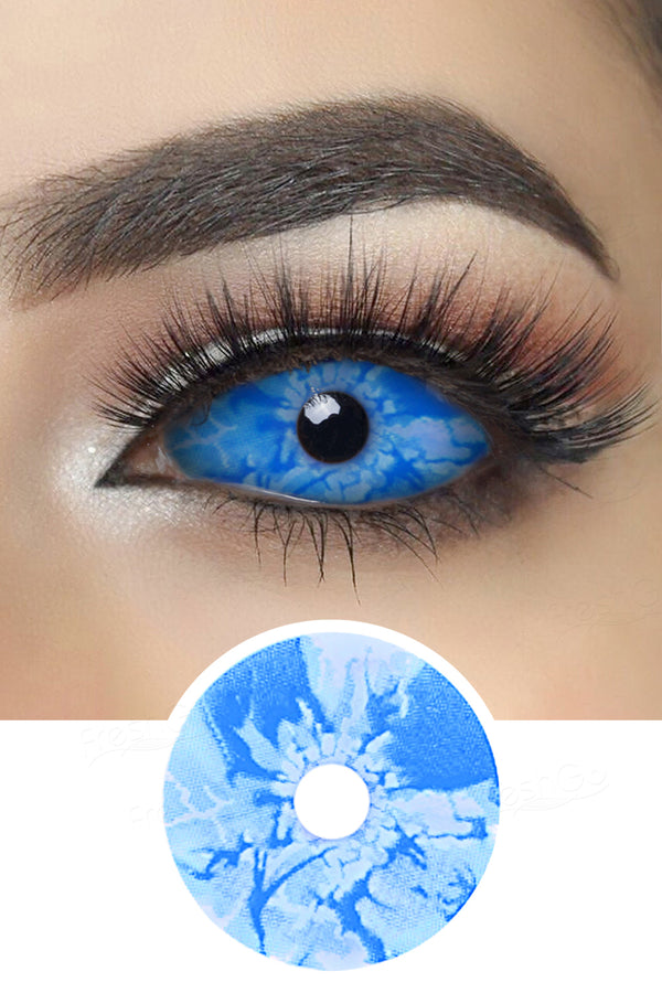 Ice Age Blue and White Sclera Lenses
