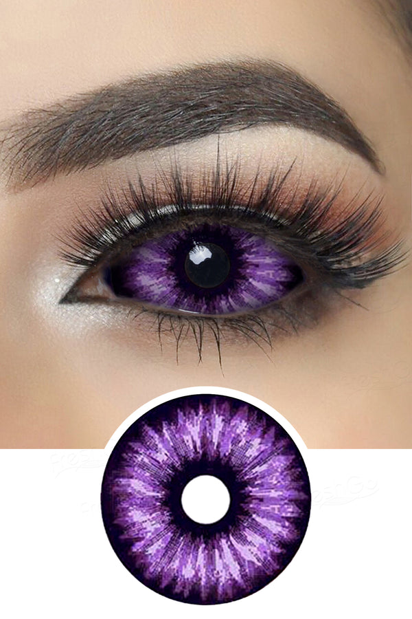 Purple Flash Sclera Lenses