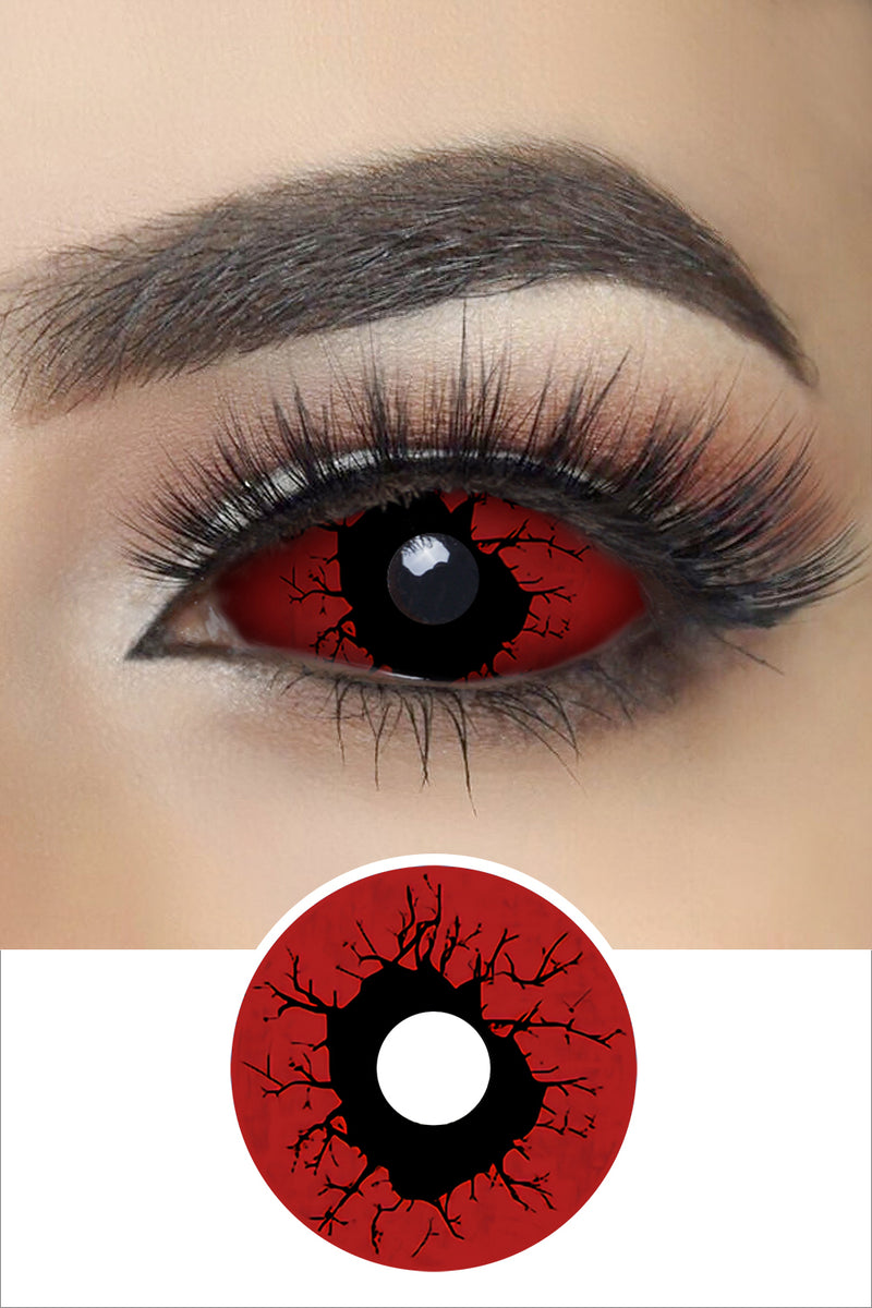 Red Slipknot Sclera Lenses