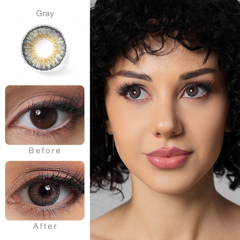 3 Tone Gray Colored Contact Lenses