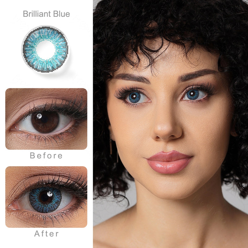 3 Tone Brilliant Blue Colored Contacts