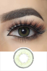 Edge Green color contact lenses with eye effect and plan lens photo