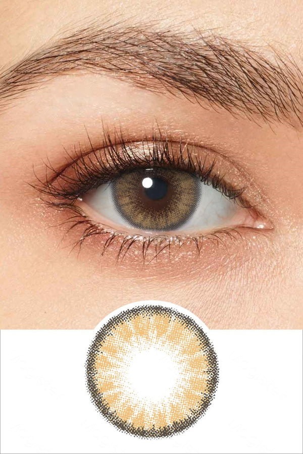 Radiant Pure Amber Colored Contacts