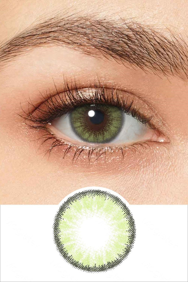 Radiant Forest Green Colored Contacts
