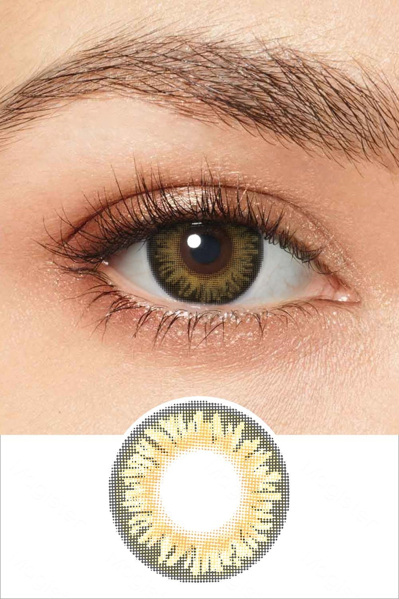 Natural Pure Hazel Colored Contacts