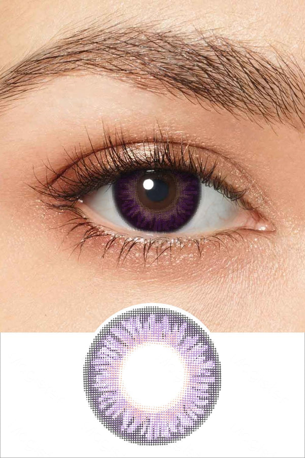 Natural Sweet Violet Colored Contacts