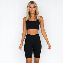 Load image into Gallery viewer, Let's Workout Sports Bra and Leggings Set
