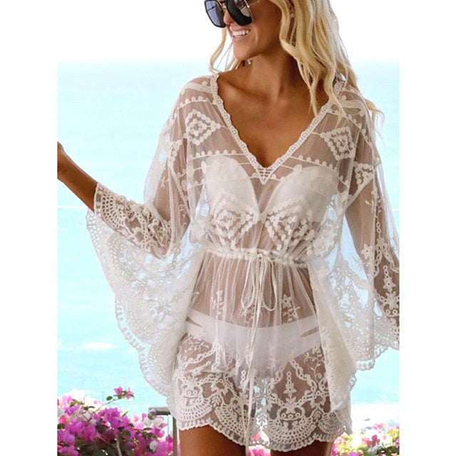 The Laura Lace Crochet Swimsuit Cover-Up