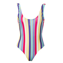 Load image into Gallery viewer, The Rianna Rainbow Striped Bathing Suit