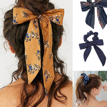 Load image into Gallery viewer, Bow hair scrunchie hair tie bogo
