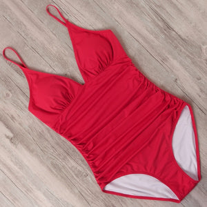 The Emily Contouring Halter One Piece Swimsuit