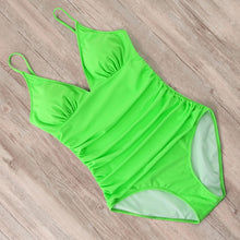 Load image into Gallery viewer, The Emily Contouring Halter One Piece Swimsuit