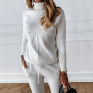 Cute & Cozy Winter Turtleneck Two Piece Set