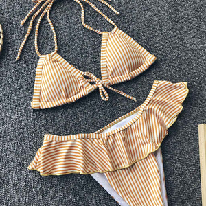 The Amy Sexy Ruffled Two Piece Swimsuit