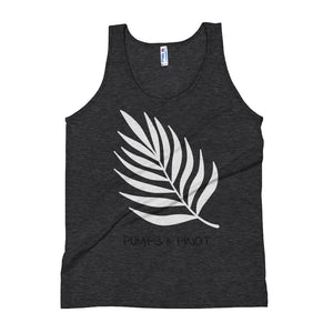 Contrast Leaf Tank Top