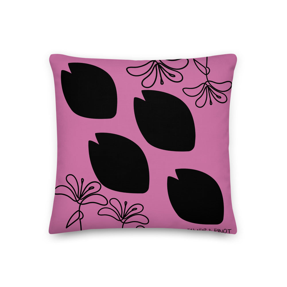 Black Pink Pillow By Pumps & Pinot