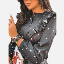 Load image into Gallery viewer, Long sleeve polka dot blouse
