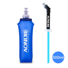 Load image into Gallery viewer, TPU Folding Water Bag Soft Drink Water Bottle Flask for Outdoor Sport Running Hike Camping Drink Ware Health Free BPA 250ml 500m