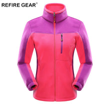 Load image into Gallery viewer, ReFire Gear Winter Sport Outdoor Hiking Jackets Women Warm Patchwork Fleece Climbing Fishing Clothes Coat Trekking Travel Jacket