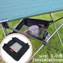 Load image into Gallery viewer, Outdoor Folding Table Storage Hanging Basket Wild Rack Camping Bag Finishing Net