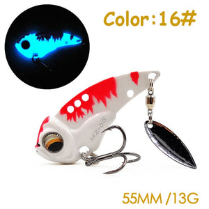 The Time brand Miracle crank metal vibration lures MZ55 fishing vib blade lure 55mm 13g sinking artificial vibrator bass bait