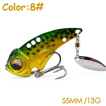 Load image into Gallery viewer, The Time brand Miracle crank metal vibration lures MZ55 fishing vib blade lure 55mm 13g sinking artificial vibrator bass bait