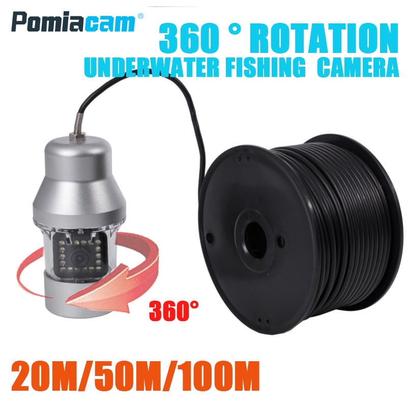F08S 20M/50M/100M 1000TVL Fish Finder Underwater Ice Fishing Camera 18PCS LED 360 degree Camera For Fishing with camera