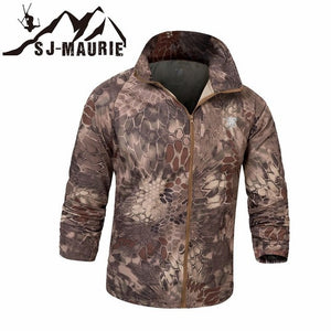 Quick-Dry Camouflage Tactical Jacket Army Hiking Hunting Jacket Skin Cloth Anti-UV Camping Hooded Coat