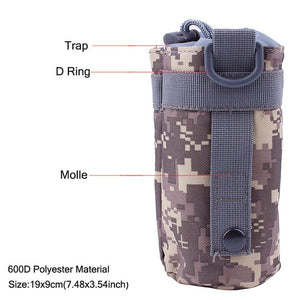 Outdoors Molle Water Bottle Pouch Tactical Army Water Bags Kettle Accessory Bags for Camping Hiking Travel Survival Kits Holder