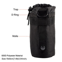 Load image into Gallery viewer, Outdoors Molle Water Bottle Pouch Tactical Army Water Bags Kettle Accessory Bags for Camping Hiking Travel Survival Kits Holder