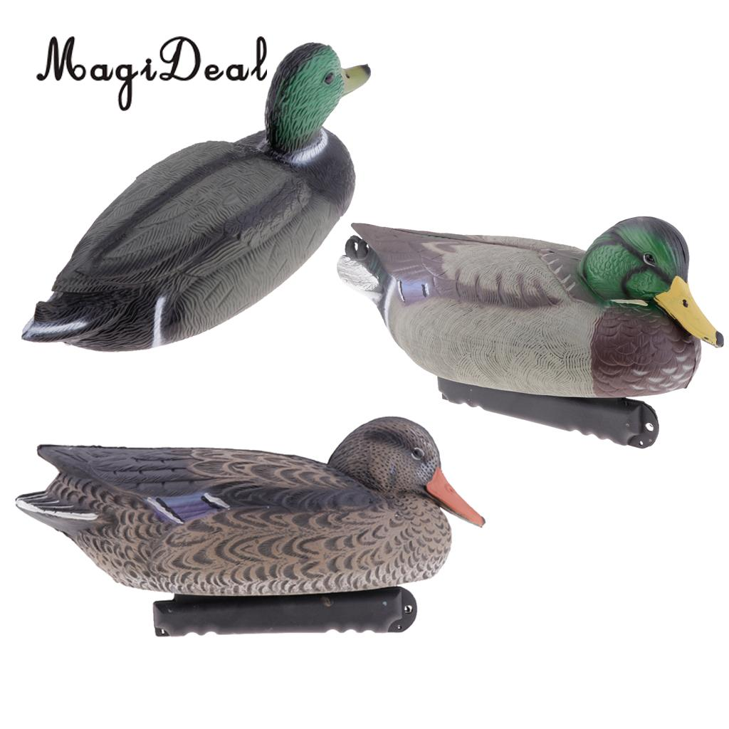 MagiDeal 3D Duck Hunting Decoys Floating Duck Garden Decoration Model Male/Female Duck for Outdoor Hunting Fishing Access