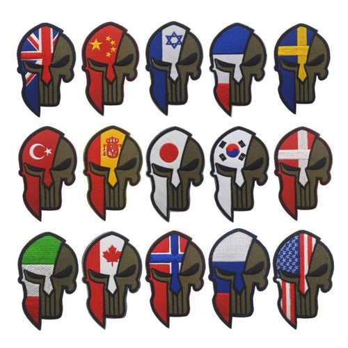 Military Hunting Accessories Badges Sticker Hook Armband Tactics Badges Stickers Punisher Flag Embroidered Armband M6
