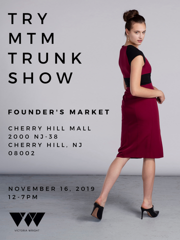 Made-to-measure trunk show invitation