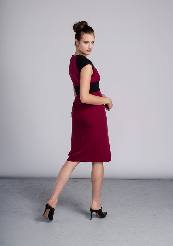Vino & Black Sabrina Dress - Victoria Wright