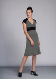 Charcoal & Black Sabrina Dress - Victoria Wright