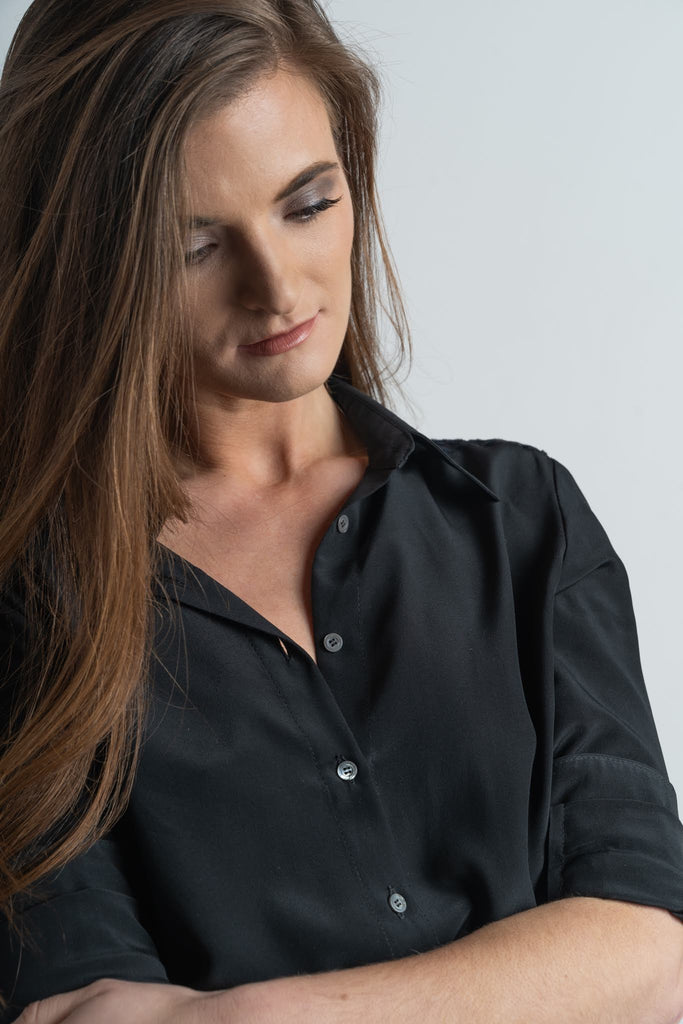 Black Stevie Blouse - Victoria Wright