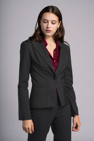 Charcoal Suit - Victoria Wright