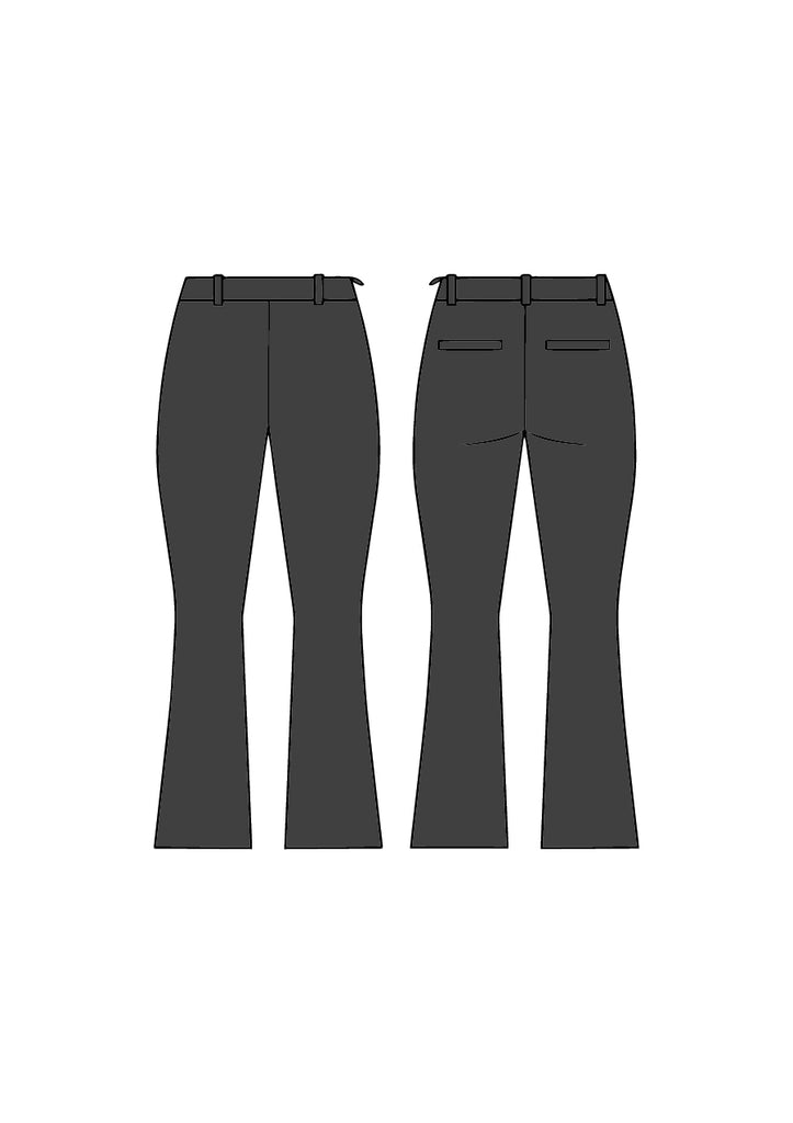 Charcoal Rochelle Pant - Victoria Wright