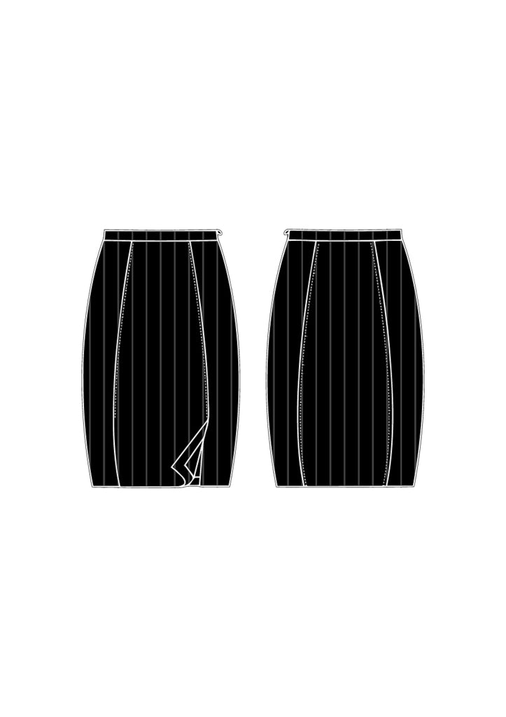 Black Pinstripe Morgan Skirt - Victoria Wright
