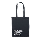 Shopping Bag FEARLESS. FEMALE. CYCLIST.