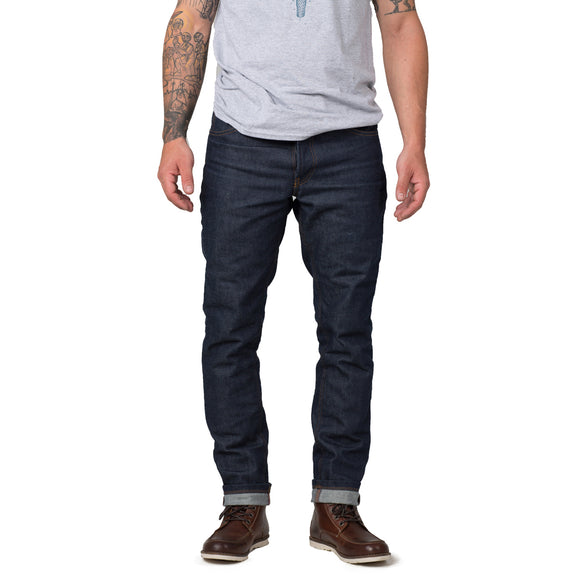 KLM Slim Fit Straight 13oz Raw Denim Jeans