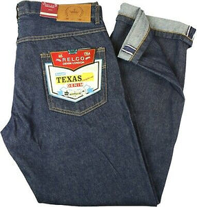 Raw Denim Texas Jeans by Relco London