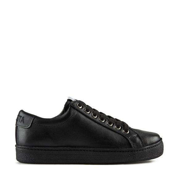 Novesta Itoh Black Leather Sneaker