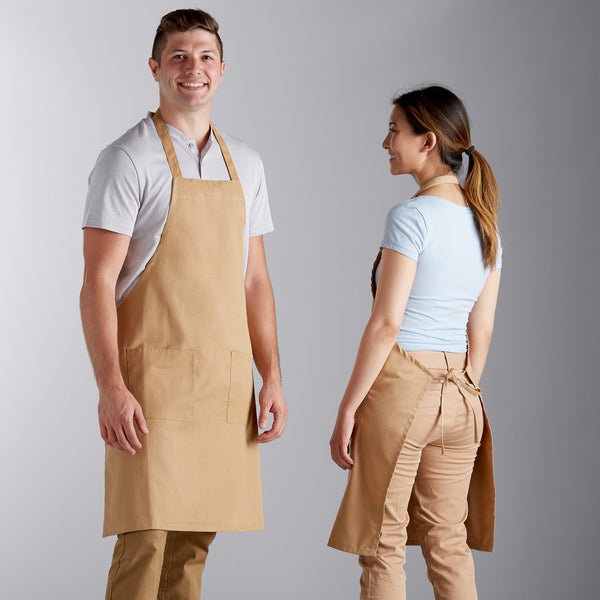 "Poly-Cotton Apron with 2 Pockets - 34""L x 32""W image 1"