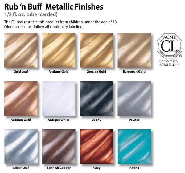 Amaco-Rub-'n-Buff-Pewter