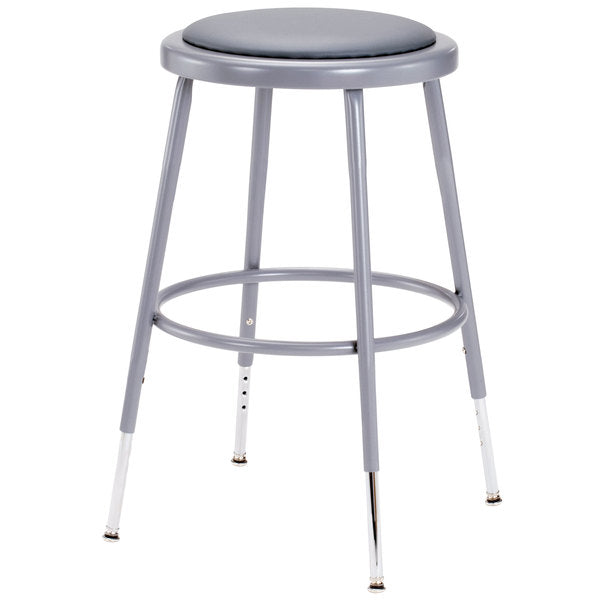 "Padded Adjustable Potters Stool 19"" - 27"""