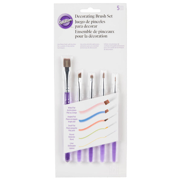 Wilton 1907-1352 5 Piece Decorating Brush Set image 1
