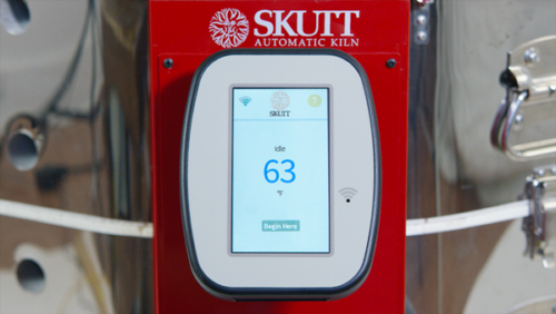 "Skutt KMT1027 Ceramic Kiln 2.5"" Brick with Digital Touchscreen KilnMaster Controller image 4"